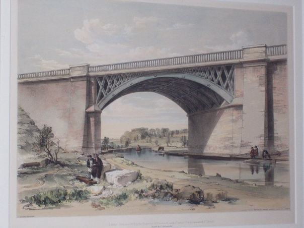 Nash Mills Canal Bridge by J. C. Bourne c1839.